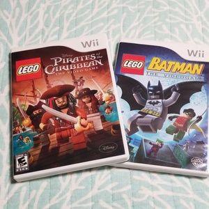 Wii games; Pirates of Caribbean& Batman